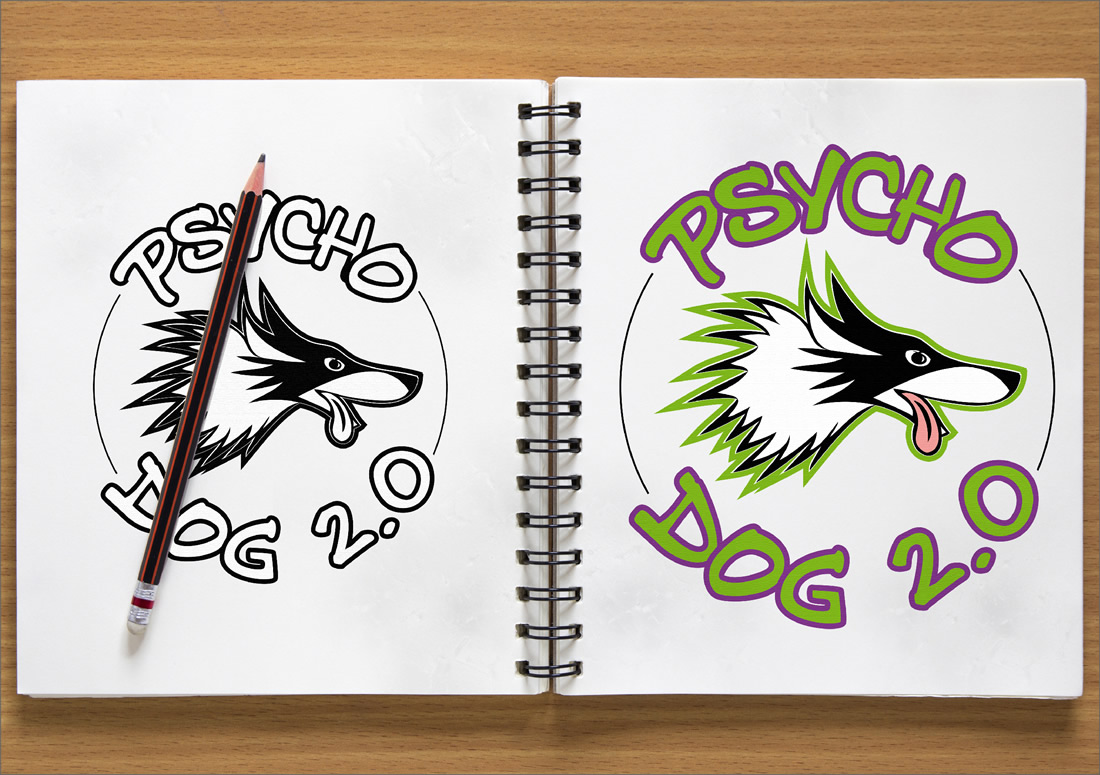 Asd Psycho Dog Logo